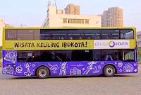 Bus tingkat pariwisata jakarta terbaru