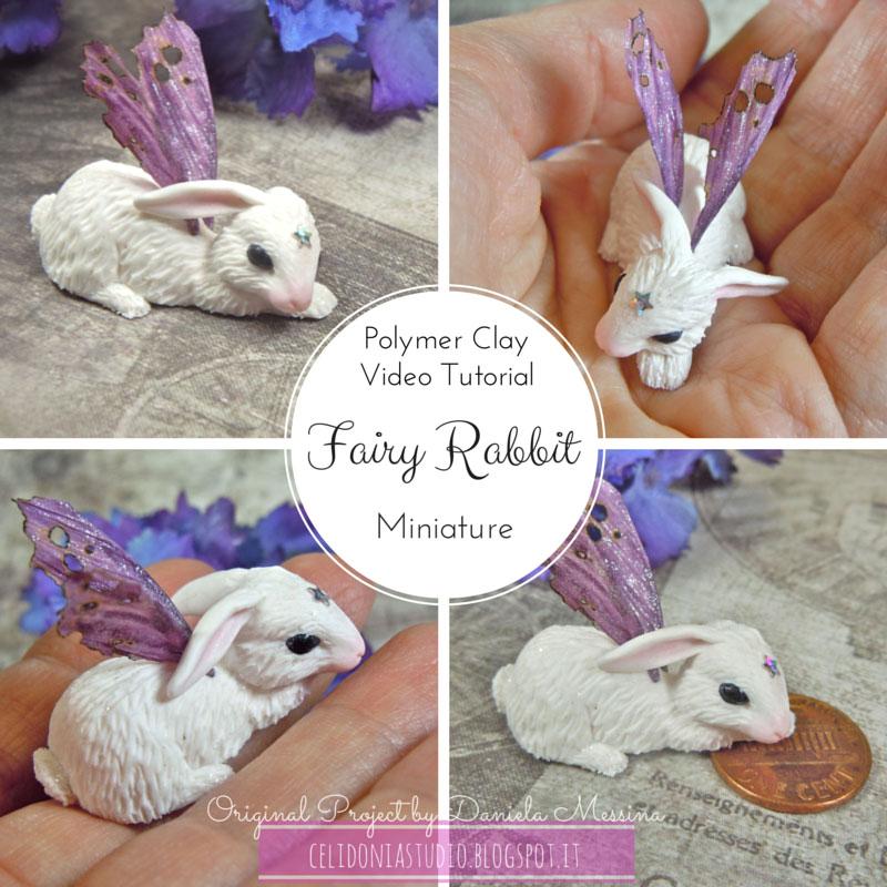 Coniglietto miniatura in pasta sintetica tutorial