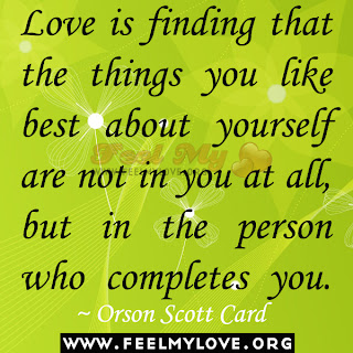 Love is finding that the things you like