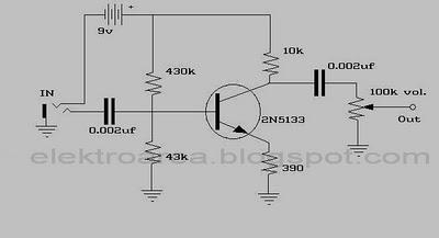 ELECTRIC GUITAR EFFECT SCHEMATIC DIAGRAM