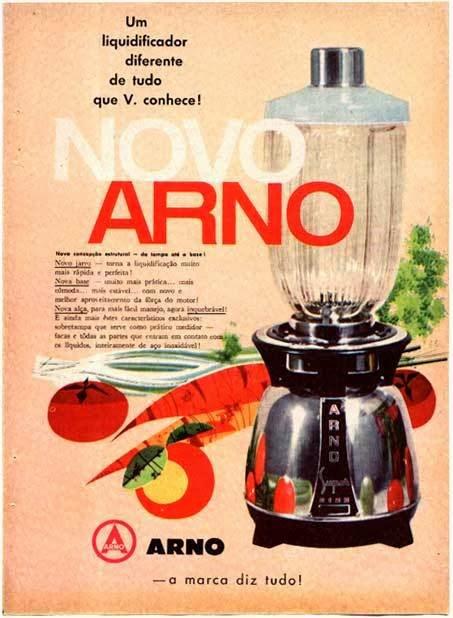 Propaganda do liquidificador Arno nos anos 50.