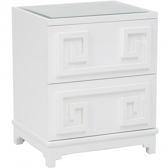 HIGH FASHION HOME PAGODA NIGHTSTAND