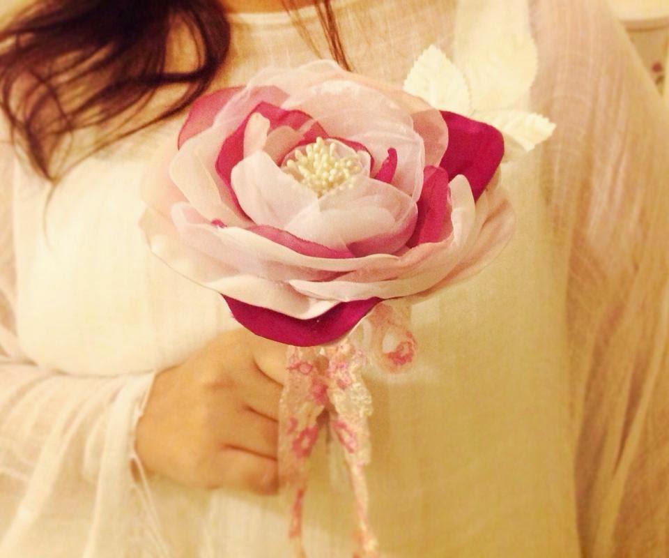 flor gigante para noivas