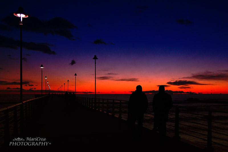 Marina di Massa molo al tramonto