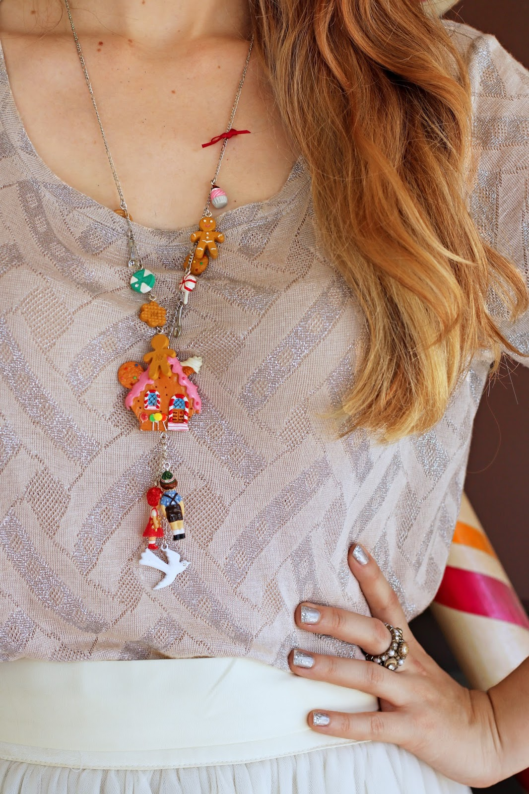 Adorable Hansel and Gretel inspired necklace!