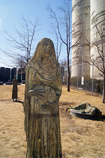 Irish Park in Toronto, Monument, immigrants, memorial, harbourfront, waterfront, attraction, explore, public, art, installation, sculptures, Ireland, travel, ontario, canada, The Purple Scarf, Melanie.Ps, Rowan Gillipsie, famine