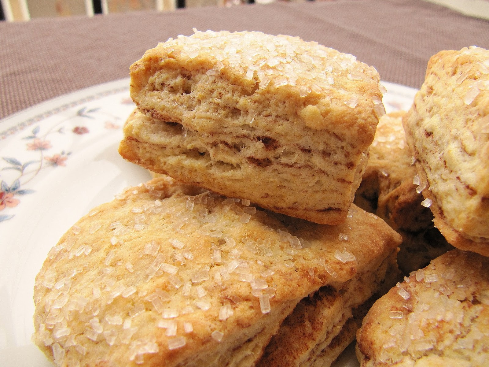 Flaky Cinnamon Layered Biscuits (adapted from Salad In a Jar )