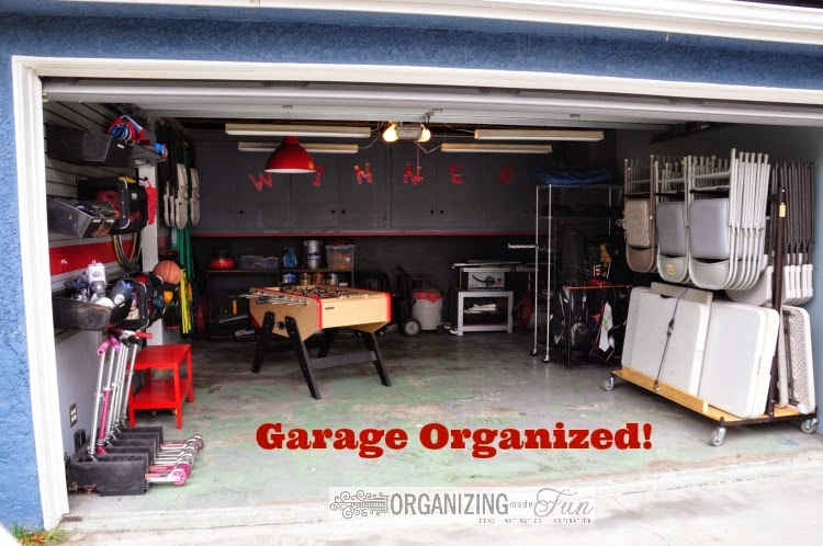 After an organized and clean garage ::OrganizingMadeFun.com