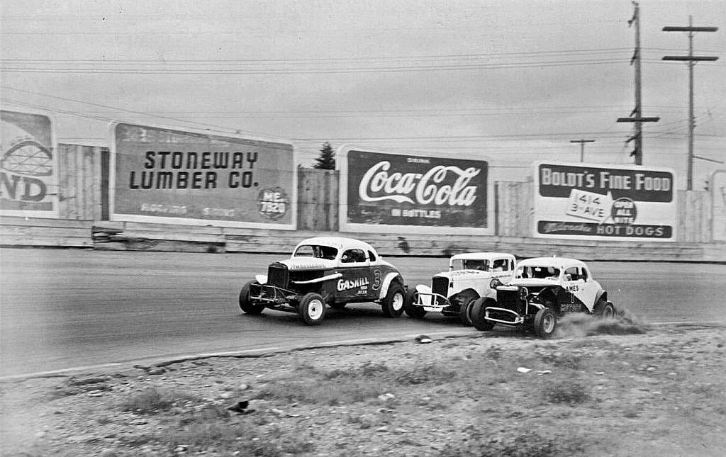 Northwest Auto Racing, 1950s: Aurora Speedway, Seattle, 1954