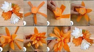 Como Hacer Flores con Zanahorias, Cocina Fácil y Bonita