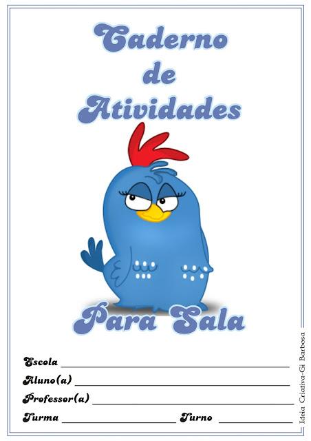 Capas de Caderno Galinha Pintadinha