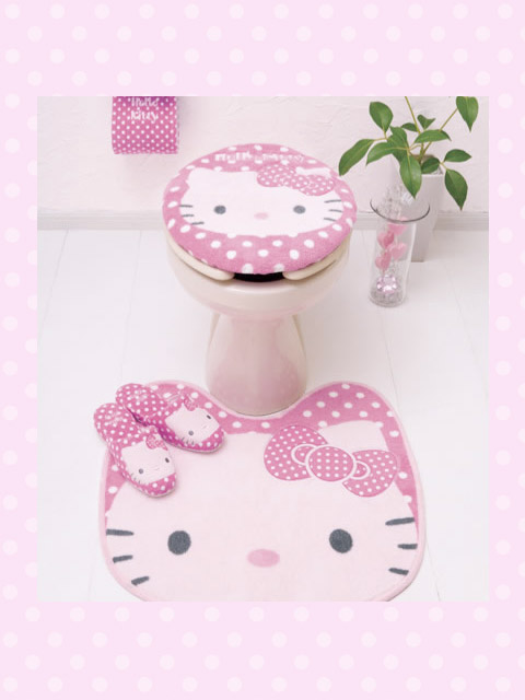 hello kitty bathroom idea desain rumah rumah minimalis kamar mandi. Black Bedroom Furniture Sets. Home Design Ideas