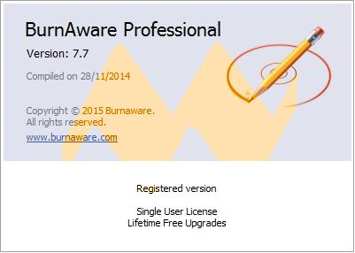 BurnAware Professional 7.7 Full Crack