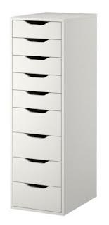 Rangement caisson 9 tiroirs Alex IKEA