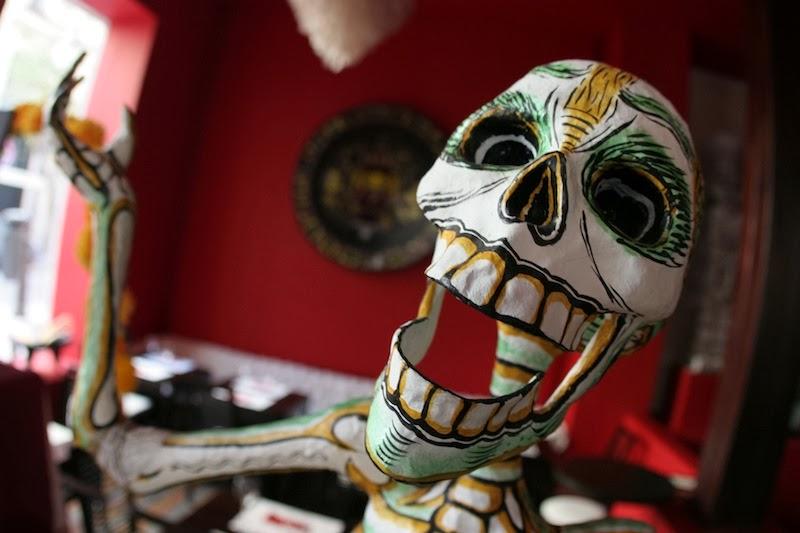 Imagen del interior del restaurante el día de la fiesta de muertos