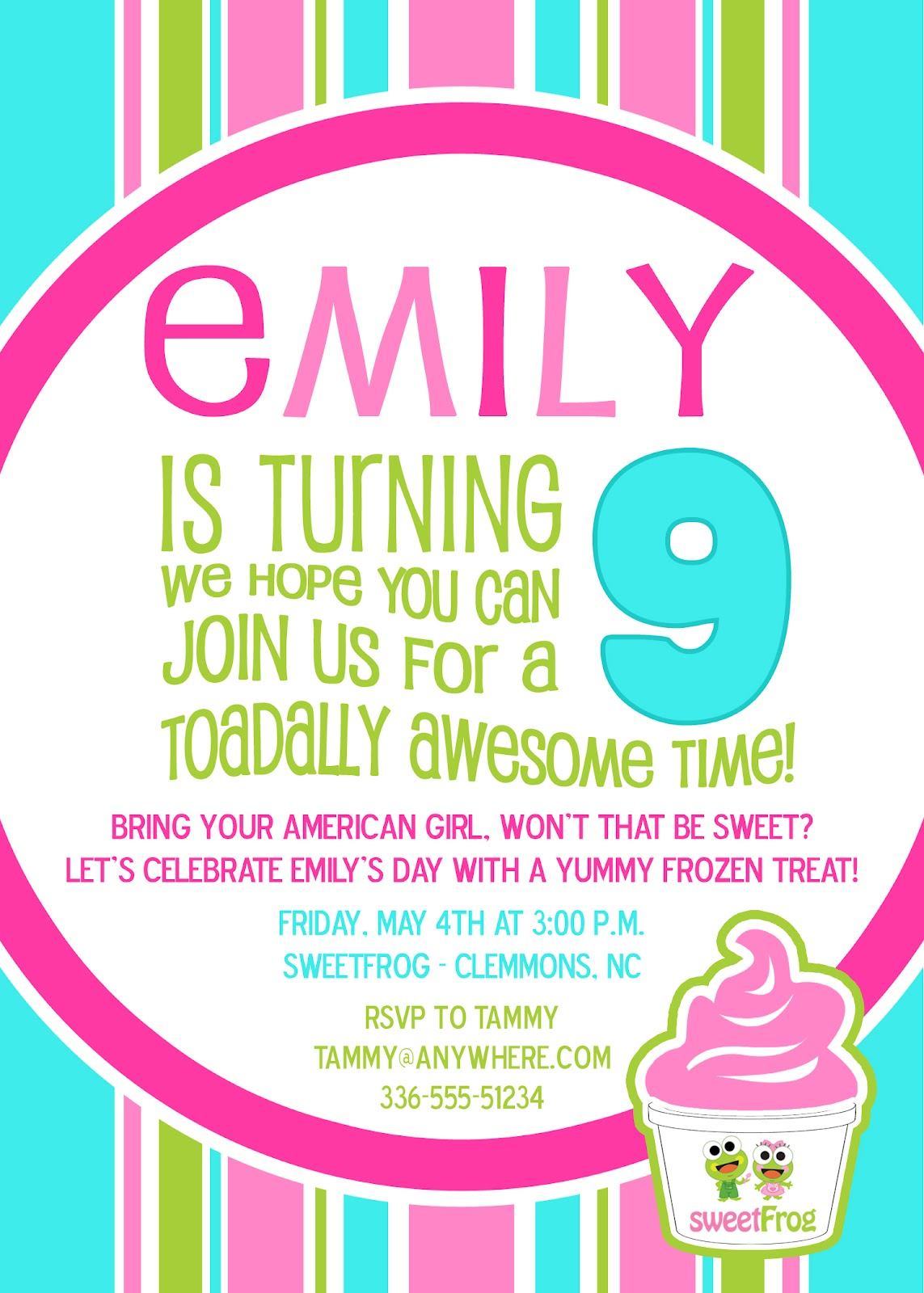 Meghily's: SweetFrog Party