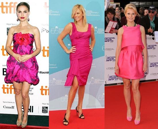 Combinar vestido rosa fucsia largo