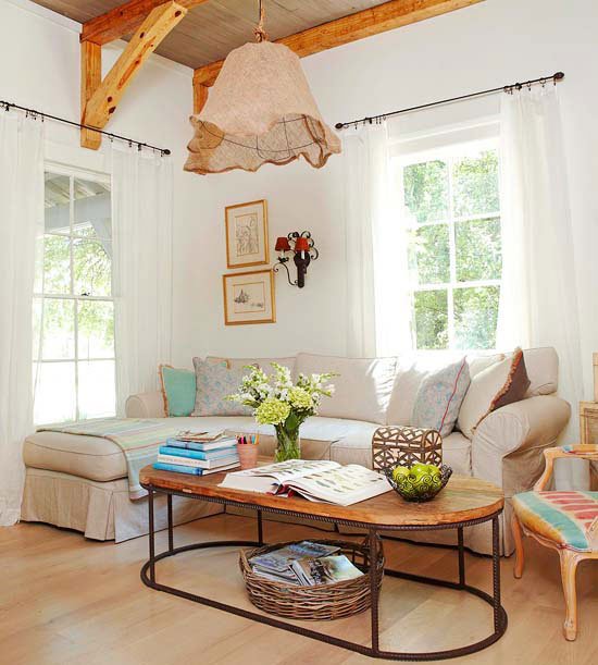 Modern Furniture 2013 Country Living Room Decorating Ideas From BHG