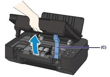 Поднять крышку сканера