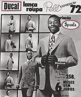 propaganda Ducal - com Pelé - 1972.1972; moda anos 70; propaganda anos 70; história da década de 70; reclames anos 70; brazil in the 70s; Oswaldo Hernandez