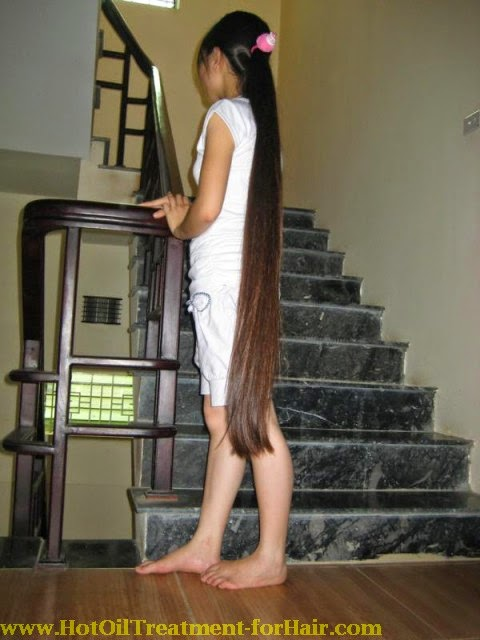 natural care for long hair