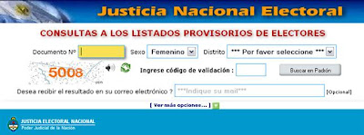 consultar lugar votacion padron argentina 2013