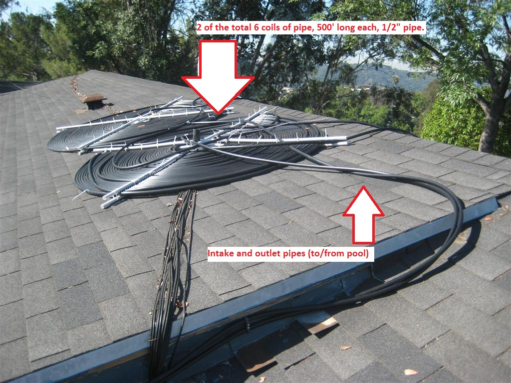 Awesome 2 Of The 6 Coils, The Other Four Are On The South Facing Side Of The Roof  For Now.