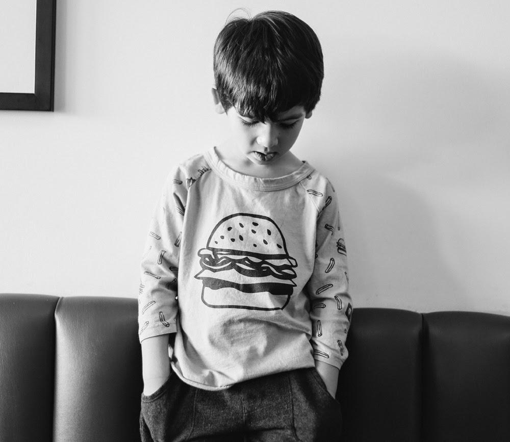 Kira Kids SS15 kids fashion collection - burger print