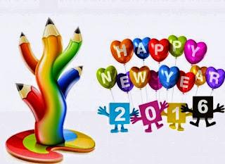 Gambar Ucapan Selamat Tahun Baru Lucu Funny Happy New Year 2016