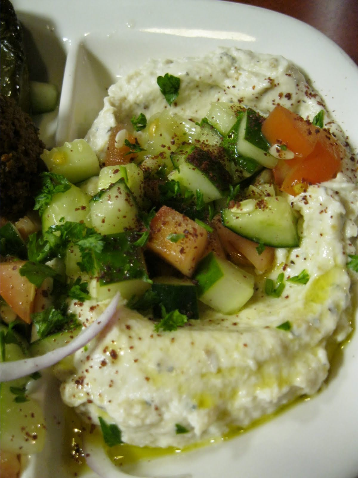 Falafel with Cucumber-Tomato Salad photo