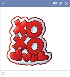 XOXO emoticon - Hugs and kisses