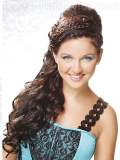 triple braided prom half updo Chic Braided Hairstyles 2013