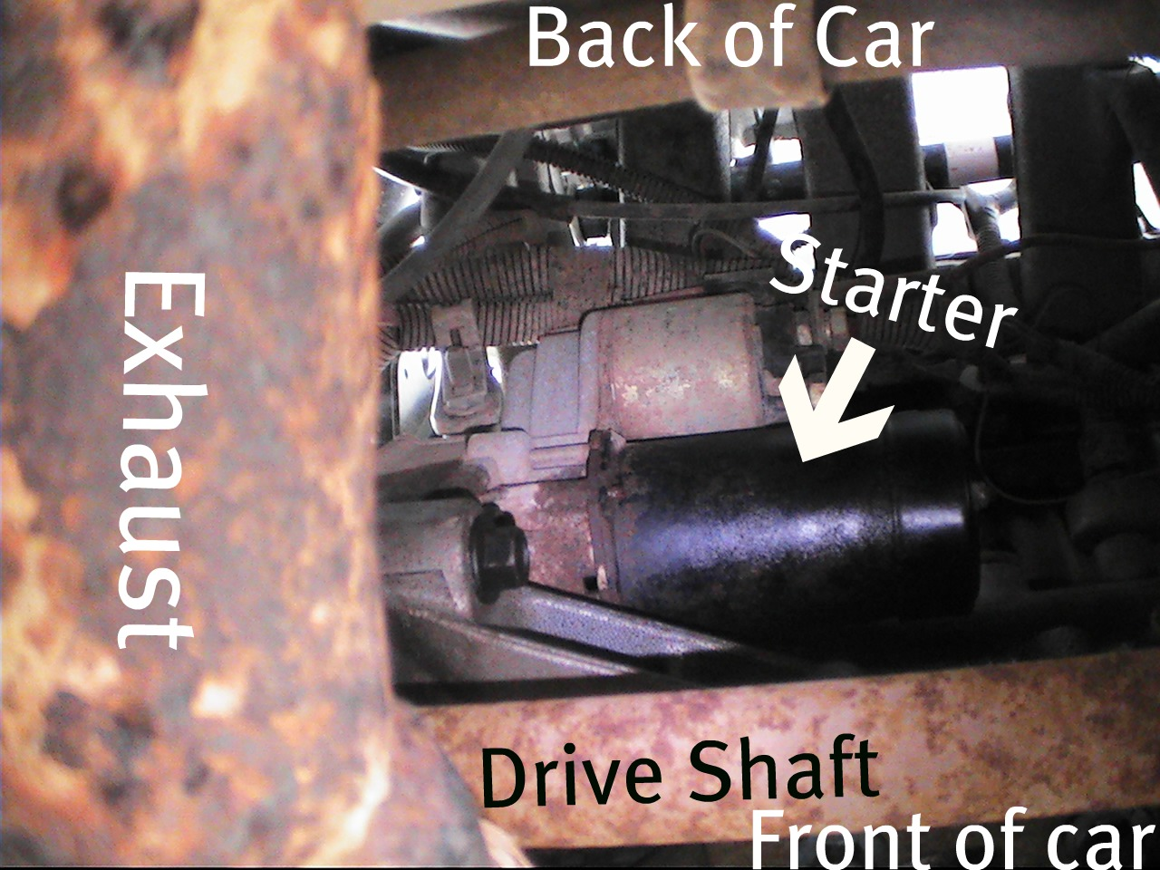 2001 Saturn Sl2 Starter Location - The Starter Is Located Under The Car - 2001 Saturn Sl2 Starter Location