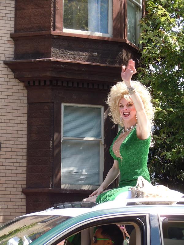 Green drag Vancouver Pride Parade