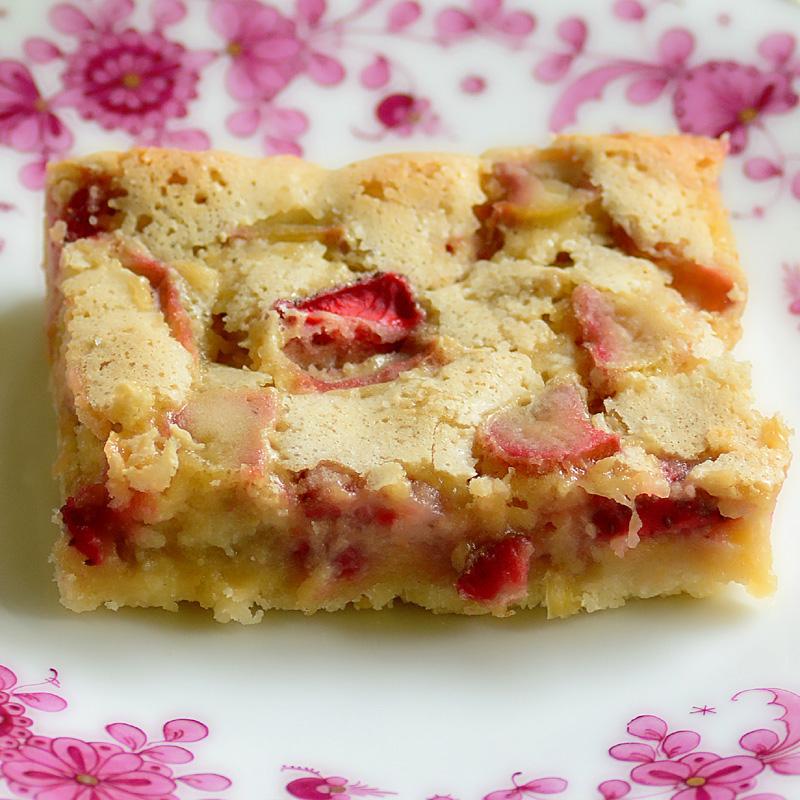 Rhubarb Custard Torte