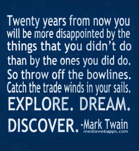Explore, Dream, Discover....
