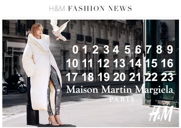Maison Martin Margiela and H&M collaboration promo