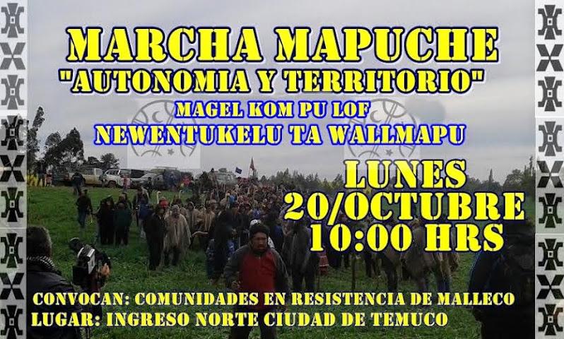 TEMUCO: MARCHA MAPUCHE