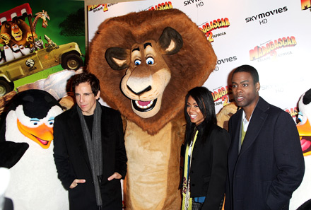 Ben Still and Jada Pinkett Smith at the Israeli premiere of Madagascar 2: Escape 2 Africa http://animatedfilmreviews.filminspector.com/2012/12/madagascar-escape-2-africa-2008-full-of.html