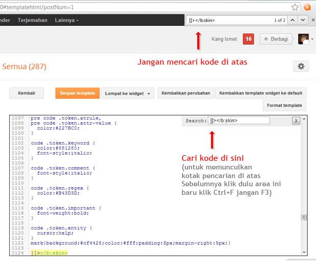 ctrl+f pada HTML editor terbaru