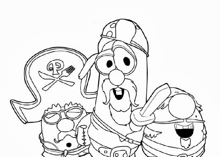Veggie Tales Pirates Coloring Pages