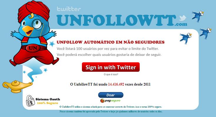 Saber quem segue seus posts no twitter