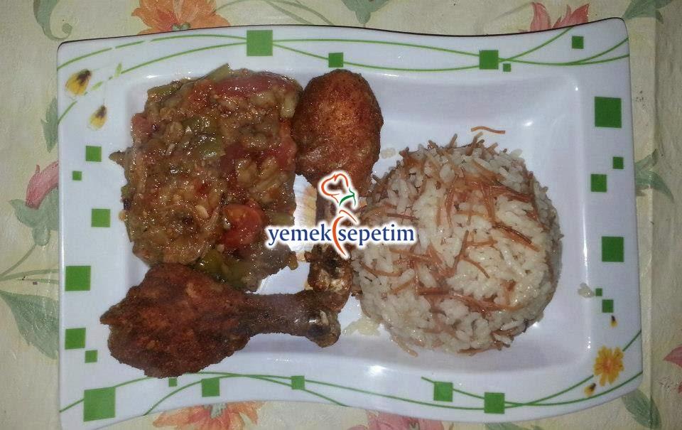Patlıcan Salatası ve Çıtır Tavuk Tarifi