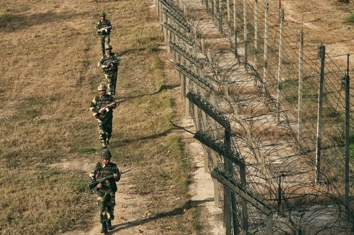 India and Pakistan Country Barbed Wired Border