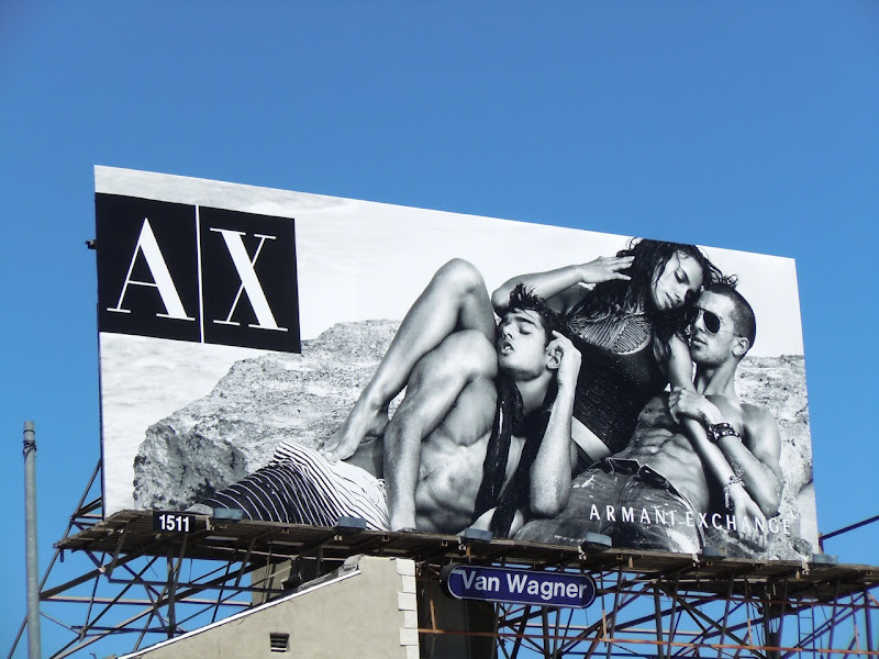 Armani Exchange beach bodies billboard