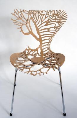 Silla de madera muy creativa
