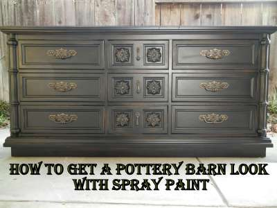 Pottery Barn Black   The Dresser Painting Experiment