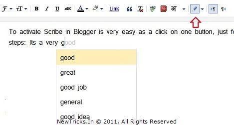 Blogger Scrible