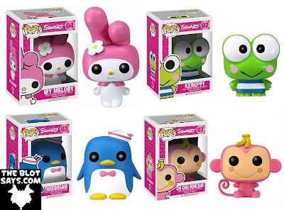 Sanrio x Funko Hello Kitty Pop! Vinyl Figures - My Melody, Keroppi, Tuxedo Sam & Chi Chai Monchan