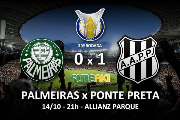 Veja o resumo da partida com os gol e o melhores momentos de Palmeiras 0x1 Ponte Preta pela 30ª rodada do Brasileirão 2015.